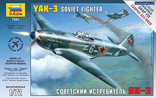 Zvezda Models 1/72 Yak-3 Soviet (World Fighters Miniature Model)