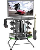 "Atlantic Black Centipede Game Storage and 37"" TV Stand"