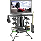 "Atlantic Black Centipede Game Storage 37"" TV Stand"