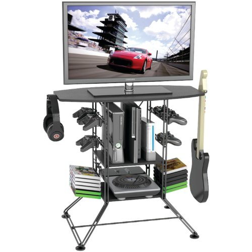 Atlantic-Black-Centipede-Game-Storage-and-37-TV-Stand