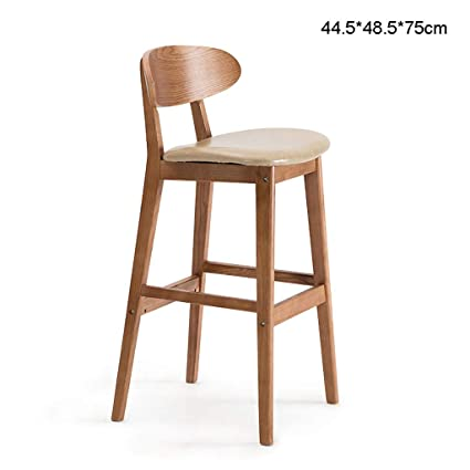 Miraculous Amazon Com Fkdebar Light Brown Solid Wood Bar Stool Chair Uwap Interior Chair Design Uwaporg