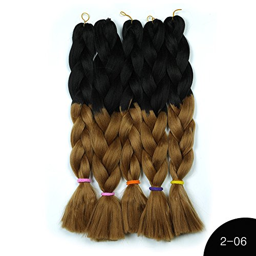 Colmkley Synthetic Braiding Hair Pre Stretched Professional Human Hair for Crochet Braids or Twist Itchy Perm Straight Hair Fiber Synthetic Crochet Hair Extensions ()