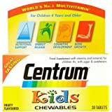 Centrum Kids Fruity Chewables Multivitamins, 30 Tablets
