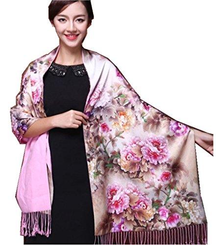 (Shanghai Story Silk Scarves Autumn Double-sided Brushed Scarf Shawl Dual9)