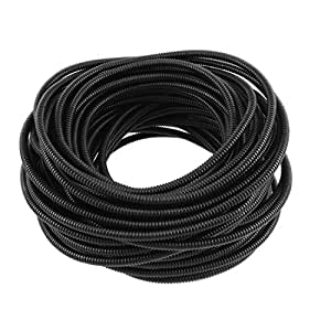 uxcell Flexible PVC 7mm Outer Dia Corrugated Tubing Conduit Tube Pipe 20M