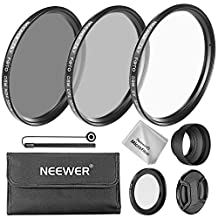 Neewer T&Y FOTO 58MM Camera Lens Filter Kit for Canon PowerShot SX60 HS and SX530 HS, Includes: UV/CPL/ND4 Filter,Filter Pouch, Lens Adapter Ring,Collapsible Rubber Lens Hood,Lens Cap,Microfiber Cloth