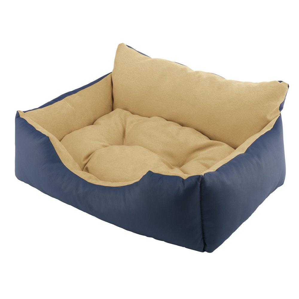 Ferplast Royal 60 - Cama para gatos y perros (piel sintética ecológica y microfibra, 60 x 50 x 28 cm), color azul: Amazon.es: Productos para mascotas