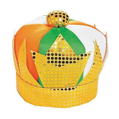 Fun Express Leprechaun King Plush Hat for St. Patrick's Day St Pat's Colors - 1 Piece (Leprechaun Hat Plush)