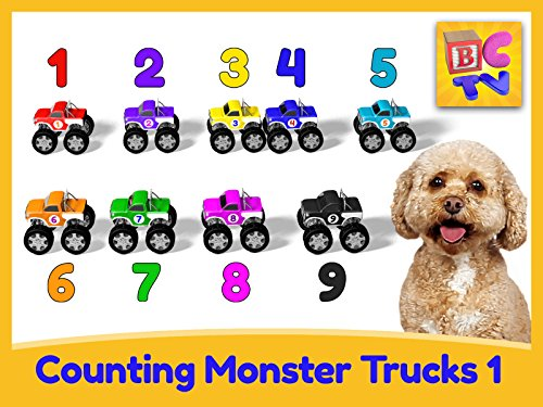 Toy Truck City - Counting Monster Trucks Part 1-1 to 10