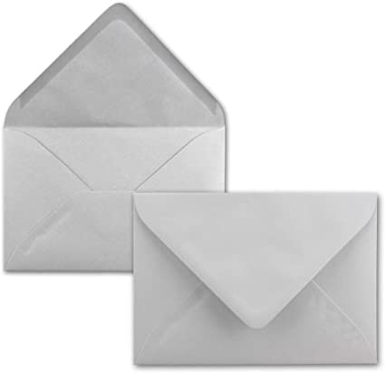 nascita FarbenFroh/® ideale per battesimo Natale /& regali DIN C7 grigio chiaro. piccole buste chiusura a umido Busta con aletta in pizzo Serie FarbenFroh/® 50 pezzi 39