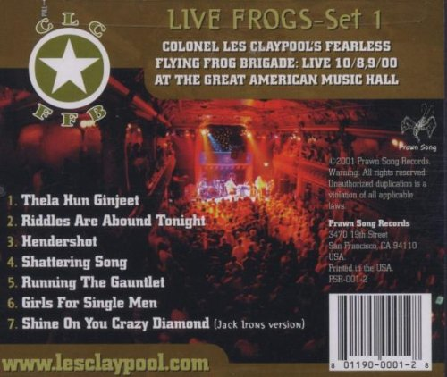Live Frogs: Set 1 by CD