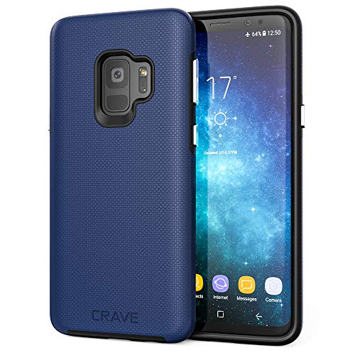 S9 Case, Crave Dual Guard Protection Series Case for Samsung Galaxy S9 - Navy