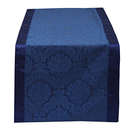 Blue Table Runner Damask 14x36 inches Pe - Bedroom Round Dresser Shopping Results