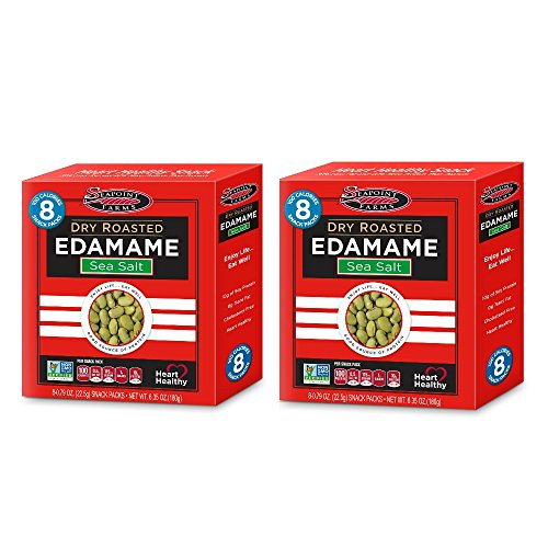 Dry Roasted Treats - Seapoint Farms Edamame Dry Roasted Lightly Salted, 8 - 0.79 oz Snack Packs (6.35 oz Net Wt.) - Pack of 2