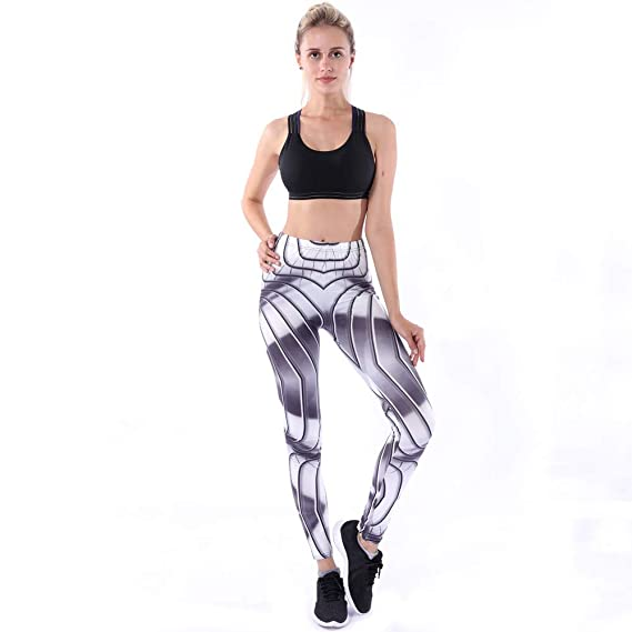 44bfb9f75829c Amazon.com  Women Yoga Pant❤️Foncircle Women High Waist Ladies Marble  Printed Yoga Tights Plus Size  Clothing