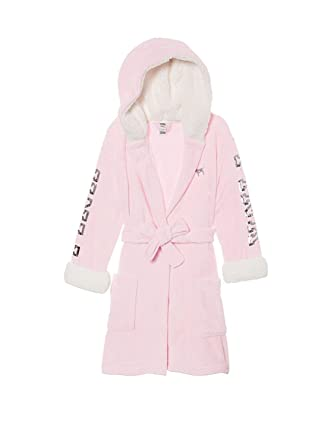 da28b91b8e Victoria s Secret Pink Sherpa Lined Cozy Soft Plush Pink About It Short Robe  with Bling -