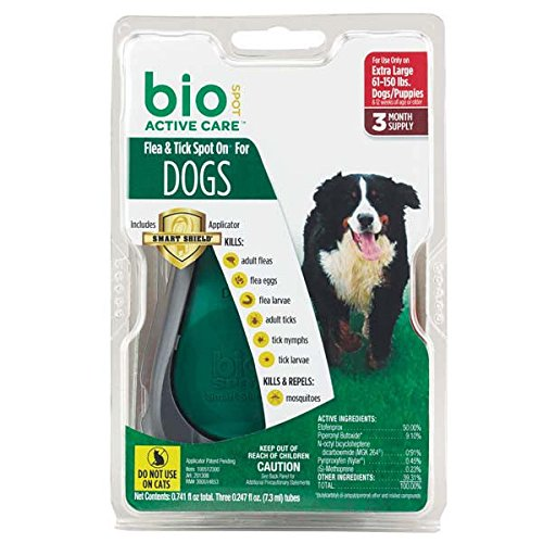Bio Spot Defense Dog (Bio Spot Active Care BioSPOT Spot On Defense Flea And Tick Control For Dogs 3 Months Supply EXTRA LARGE 81 Lbs and)
