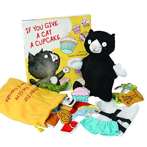 If You Give a Cat a Cupcake Book, Puppet & Props