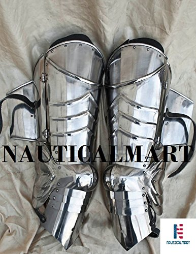 SCA combat leg armor, plate legs, cuisses with poleyns by NAUTICALMART (Image #5)