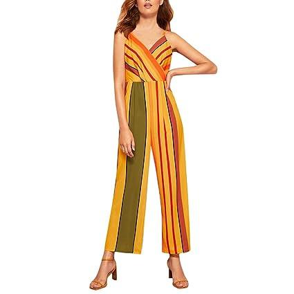 Summer Women Casual Sunflower Print Sleeveless Camisole Playsuit Jumpsuit Romper