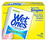 Wet Ones Citrus Antibacterial Hand and Face Wipes Singles, 24-Count (Pack of 5), Health Care Stuffs