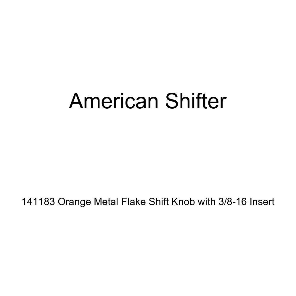 American Shifter 141183 Orange Metal Flake Shift Knob with 3//8-16 Insert