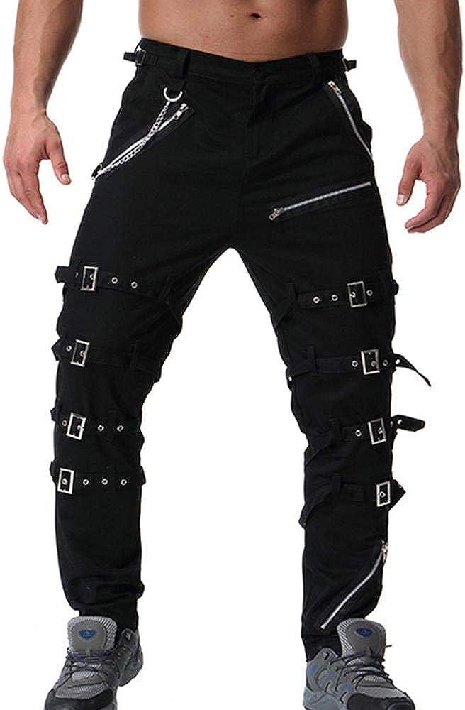 Mens Gothic Pant SHINY PVC VINYL Punk Rocker Pants EMO Men Slim Fit Pants