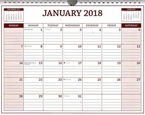 2018 Spiral Bound Calendar - 12 Months DESKTOP / WALL Calendar / Planner - (Edition #1) (Desk Calendar Spiral Bound)