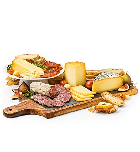 Deluxe Cured Meats and Imported Cheese Slate by GiftTree