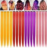 ECOCHARMS 16PCS 21''Red&Orange&Purple&Smoke Pink