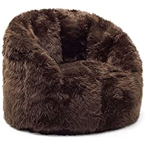 Amazon Com Sturdy Beansack Big Joe Milano Faux Fur Bean