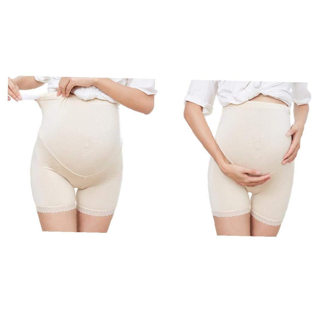 Ajustable Maternidad Stylewear Blanda Sin Costura Mujer Embarazada De La Ropa Interior De La Piel Con Borde De Encaje Abdomen Apoyo Panty Panty Colores L Styler