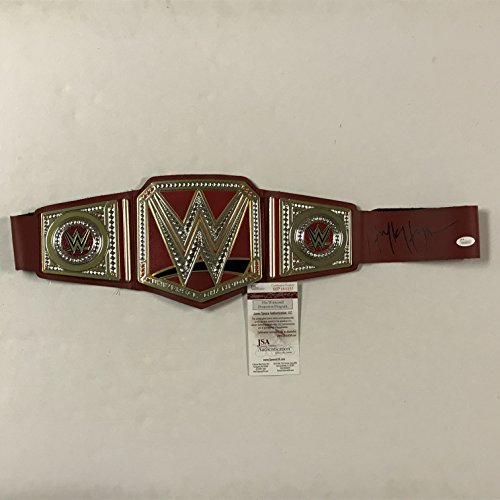 ulk Hogan Red Replica WWE Wrestling Championship Title Belt JSA COA ()
