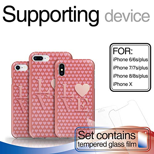 - Case for iPhone 6 / iPhone 6s Romantic, Teenager Love Sign Pink Heart Design Professional Hard PC Material Shockproof Protective Case, Custom Cover for iPhone