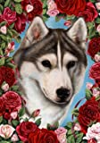 Siberian Husky Grey – Tamara Burnett Valentine Roses Large Flag Review