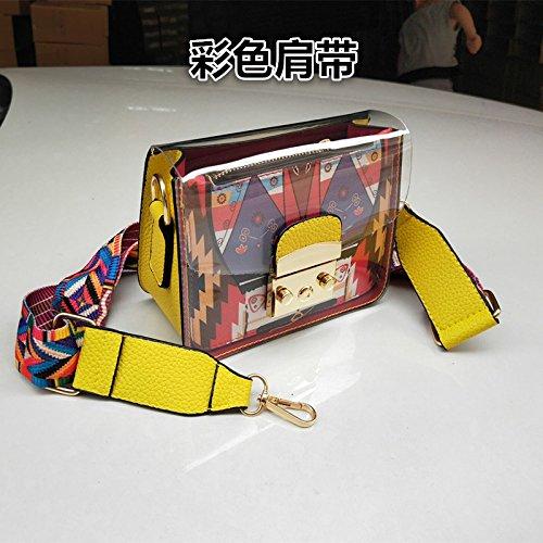 Sac De Paquet Le Petit KLXEB Téléphone Petit Sac Un Sac Femme Stamp Emballage Un Parti Avec Yellow Documents Sac De fIOq7I