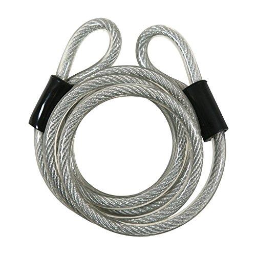 Bike Cable Lock Double Loop High Security 6 Foot Vinyl (Double Loop Locks)