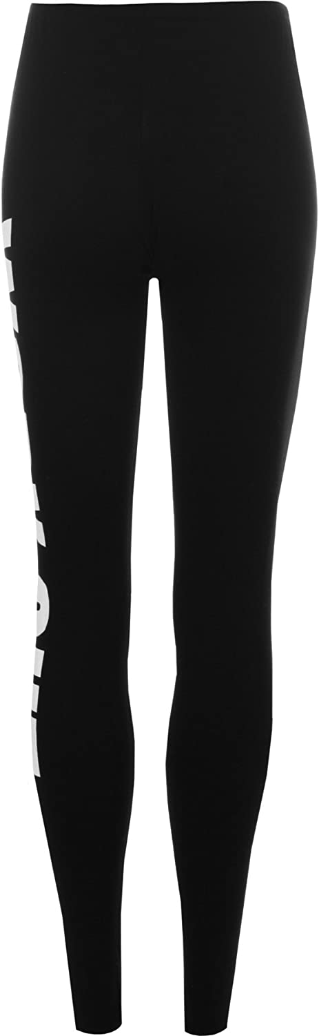 Black UK 8-10 WearAll Womens Work Out Print Leggings US 4-6