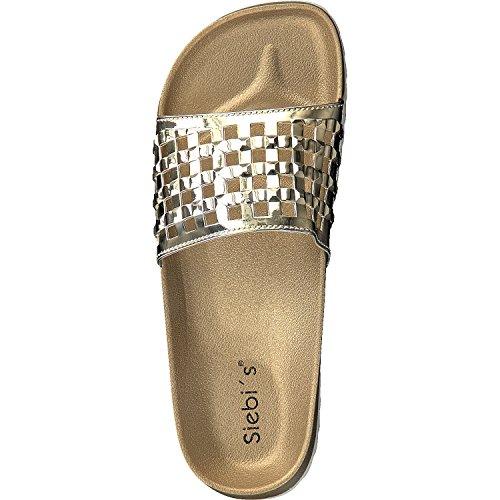 Siebi's MONACO Elegante Zapatos de baño con Fußbett Sandalias Mujer Oro