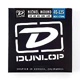 Dunlop DBN45125 Nickel Wound Bass Strings, Medium, .045-.125, 5 Strings/Set