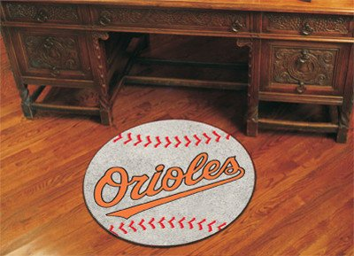 Baltimore Orioles Baseball Mat 27 Diameter - Baltimore Orioles Home Decor (Baltimore Orioles Rug Baseball Mlb)
