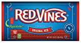 Red Vines Licorice Twists, Original Red Flavor, 16oz Bags (12 Pack), Soft & Chewy Candy
