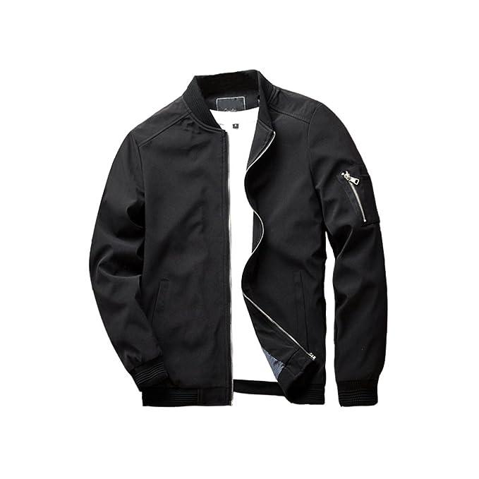 Urbanfind Men's Slim Fit Lightweight Sportswear Jacket Casual Bomber Jacket by Amazon