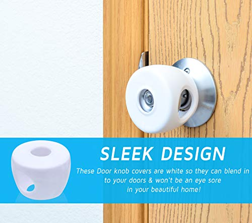 Baby Safety Door Knob Covers – Safety Child Proof Door Lock – Childproofing Handle Cover – Kids doorknobs child safety – Toddler proof protector – 4Pack – Easy to Install by 99 Luxes