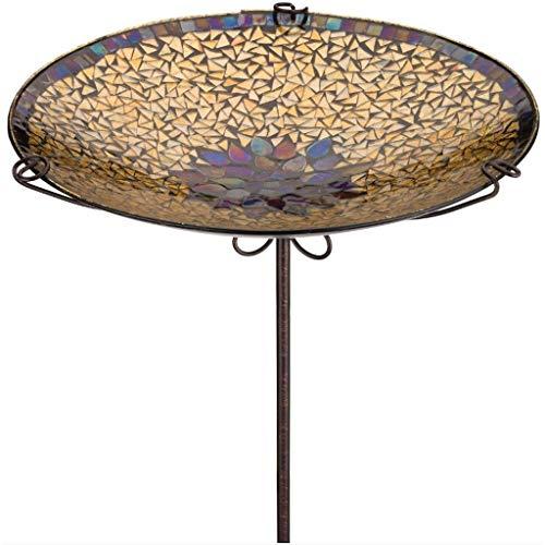 Regal Art & Gift 14 Inches x 14 Inches x 26 Inches Birdbath Feeder Stake Golden Sun Garden Decor