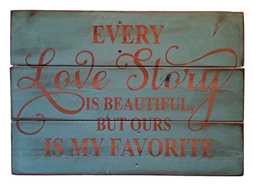 Rustic Engraved Wood Sign - love wall art decorations