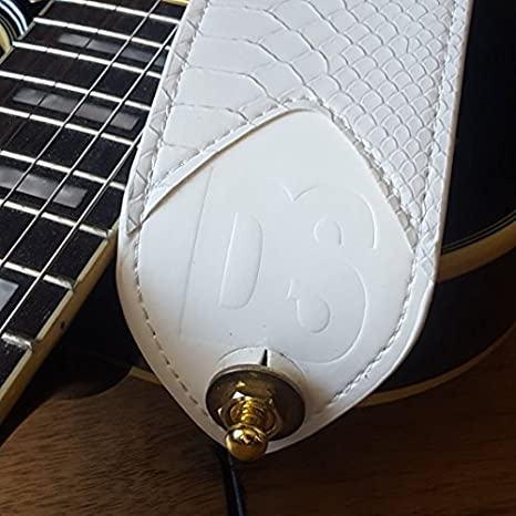 Snake Skin Leather Guitar strap with Nylon length adjuster for quick adjustment- Dragon Scale Straps are made with comfort and durability in mind- Perfect for Fender, Gibson, Ibanez, Yamaha & Squier Electric Guitars (Silver strap lock) Ltd. DSWS1