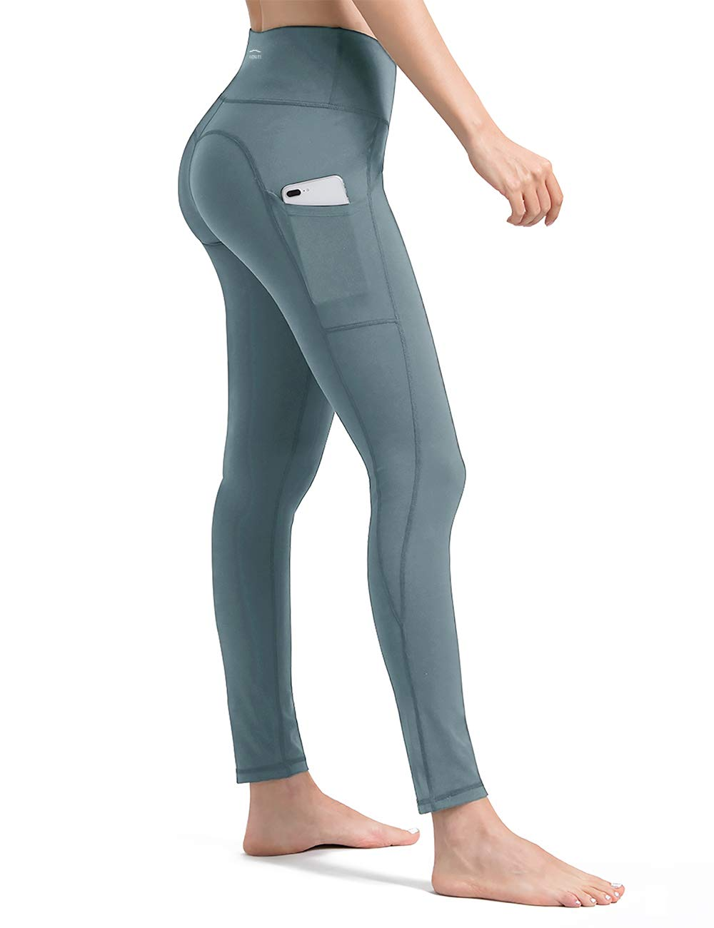 Compression Workout Leggings Tummy Control ALONG FIT Yoga Pants for Women with Pockets