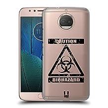 Head Case Designs Bio Hazard Symbols 2 Hard Back Case for Motorola Moto X4