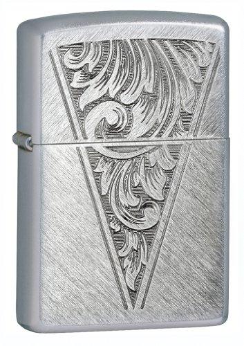 Zippo BS Wedge Herringbone Sweep Lighter, Silver, 5 1/2 x 3 1/2cm by Zippo